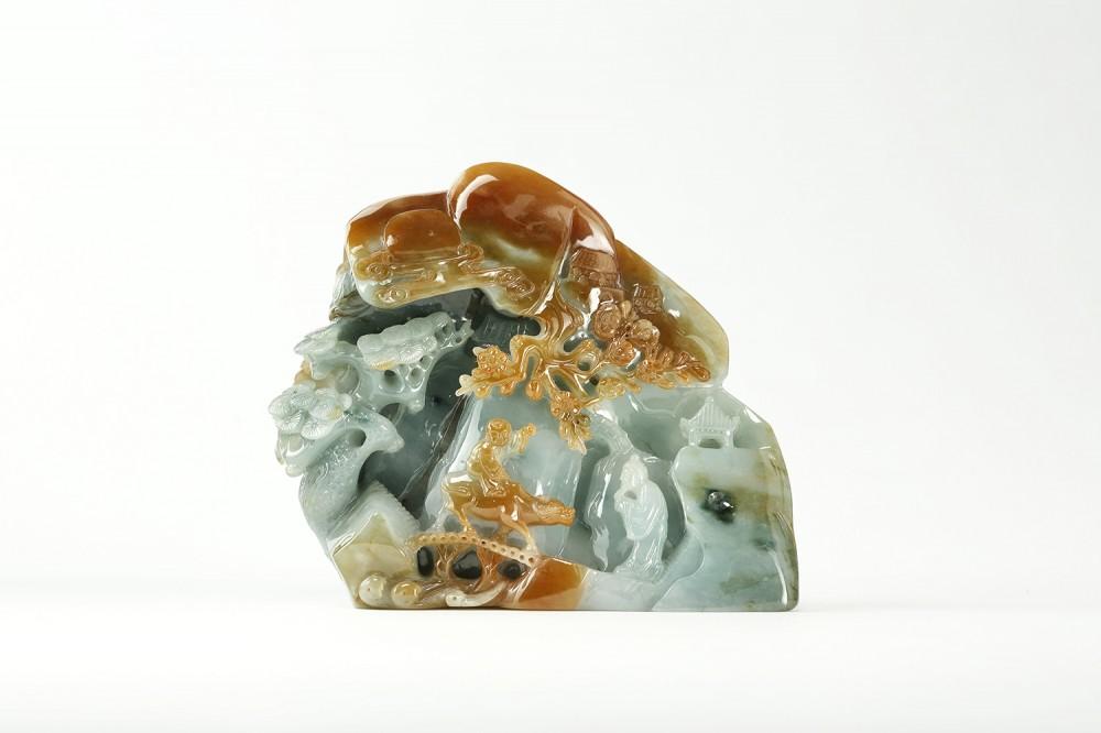 展品-黃翡玉雕件
